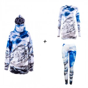 Promo set for women - Mountain Freak - jacket + thermal base layers